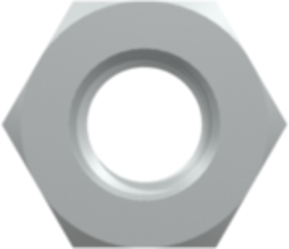 Panel Mount Nut 1/4-28 UNF with 7/16in Hex (For use with PMS FTLB AND FTLLB panel mount fittings) Stainless Steel