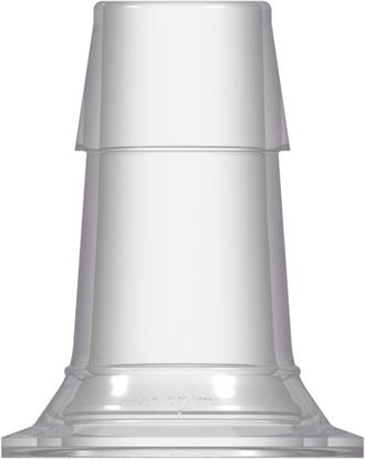 Sanitary Fitting Maxi Flange to 600 Series Barb 1in (25.4 mm) Tubing ID Natural Kynar PVDF