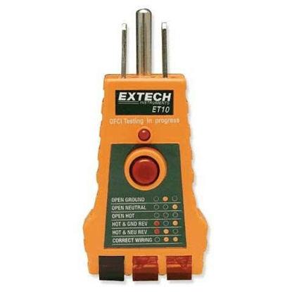 Extech ET10 10PK GFCI Circuit/Receptacle Tester