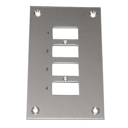Digi-Sense Thermocouple Mounting Panel, Vertical, Mini Connectors; 4 Circuits
