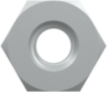 Panel Mount Nut 10-32 UNF with 3/8in Hex (For use with PMK panel mount fittings) Stainless Steel