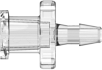 Female Luer Thread Style to 200 Series Barb 3/32in (2.4 mm) ID Tubing Clear Polycarbonate