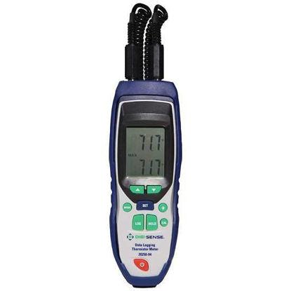 Digi-Sense Thermistor Thermometer, 2-Input Data Logging, NIST-Traceable Calibration