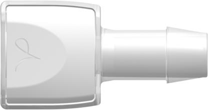 "RQX Series Female Open Flow Connector 600 Series Barb 1/2""; (12.7 mm) ID Tubing Animal-Free Polypropylene"