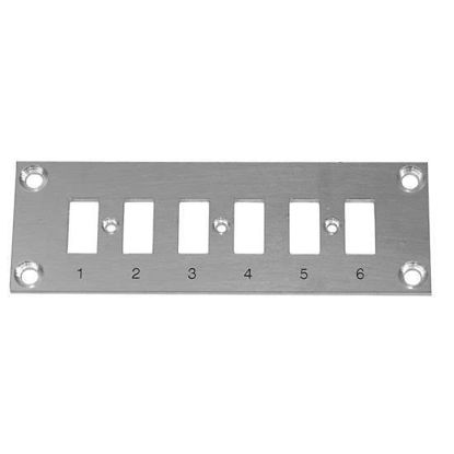 Digi-Sense Thermocouple Mounting Panel, Horizontal, Mini Connectors; 6 Circuits