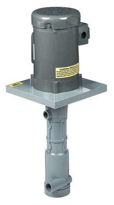 OL125VPF-C1.5 Immersed vertical centrifugal pump; PVDF 80 GPM, 1-1/2 hp