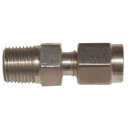 "Digi-Sense Compression Fitting; Probe Diameter 3/16""; 316 Stainless Steel; 1/8""NPT (M)"