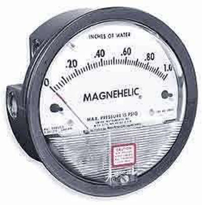 """Dwyer 2302 Magnehelic Differential Pressure Gauge, Type , -1 to 0 to 1"""" WC"""