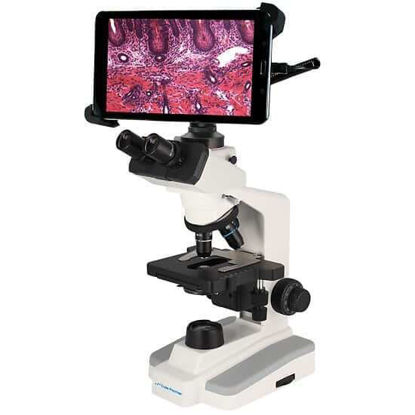 Cole-Parmer Compound Trinocular Microscope with Tablet Display and Camera, Super High Contrast, 110-220 VAC