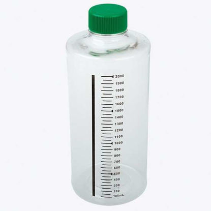 CELLTREAT Scientific Products 229584 Non-Treated Culture Roller Bottle, 2L, nonvented cap, sterile, 12/cs
