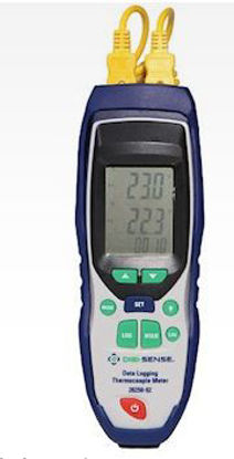 Digi-Sense Dual-Input Data Logging Thermocouple Thermometer with NIST-Traceable Calibration