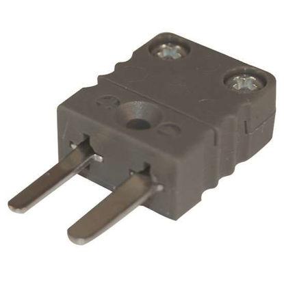 Digi-Sense Miniature Type-J Thermocouple Male Connector, 2 Pin, 5Pk