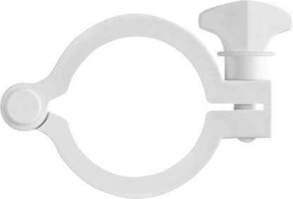 Clamp Maxi Flange 2in (50.8 mm) Glass Reinforced White Nylon