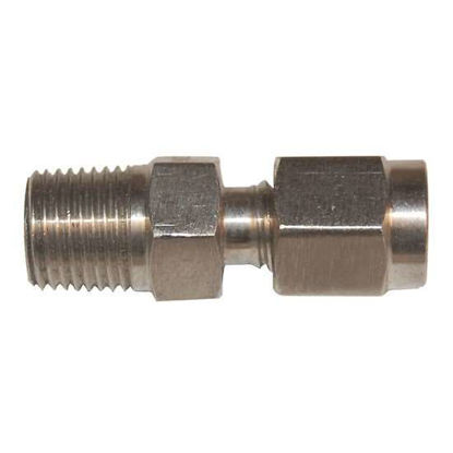 "Digi-Sense Compression Fitting; Probe Diameter 1/4""; 316 Stainless Steel 1/8""NPT (M)"