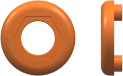 Color Coded Lock Ring (For use with FTLLB or FTLB ) Orange Nylon