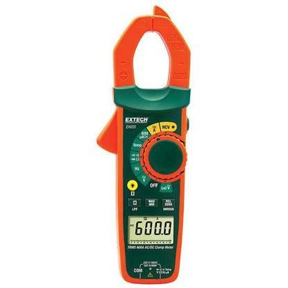 Extech EX655 True RMS 600A Clamp Meter with NCV; AC/DC