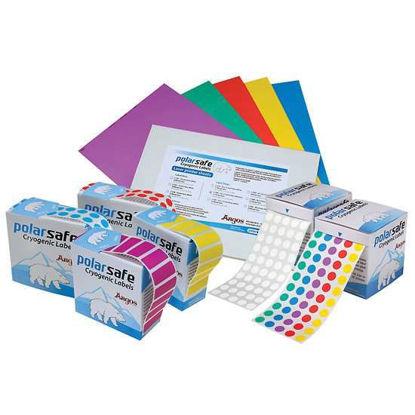 Argos Technologies PolarSafe Label Dots, Laser Printer, 19 mm dia, White; 108 x 20 Sheets