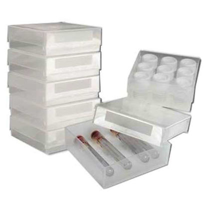 Argos Technologies Gridless Freezer Box, PP, No Dividers, Clear; 5/Pk