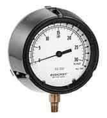 "Ashcroft 1188AS4.5 4.5"" Low-Pressure Brass Bellows Gauge 0 to 100"" WC"
