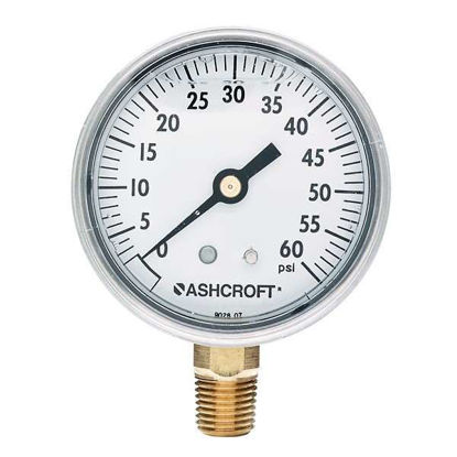 "Ashcroft Commercial Gauge with Bottom Connection, 600 psi, 2-1/2"" Dial"