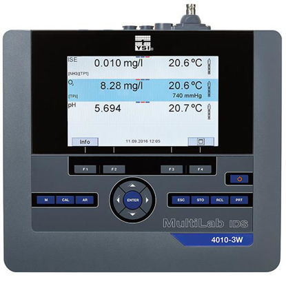 MultiLab IDS Three Channel Benchtop Instrument with barometer, memory, data transfer via USB, and OUR/SOUR software. Includes three channel instrument with color display, universal AC power supply, electrode stand, USB cable and PC software