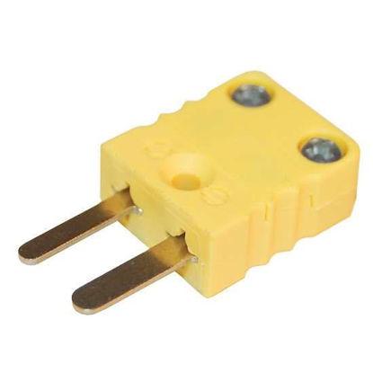 Digi-Sense Miniature Type-K Thermocouple Male Connector, 2 Pin, 5Pk