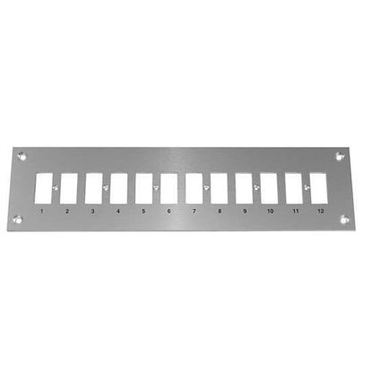 Digi-Sense Thermocouple Mounting Panel, Horizontal, Standard Connectors; 12 Circuits