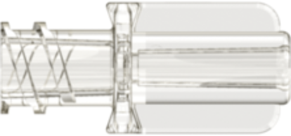Neuraxial Female Connector with 2.1mm Tubing Bond-in Pocket Yellow Acrylic