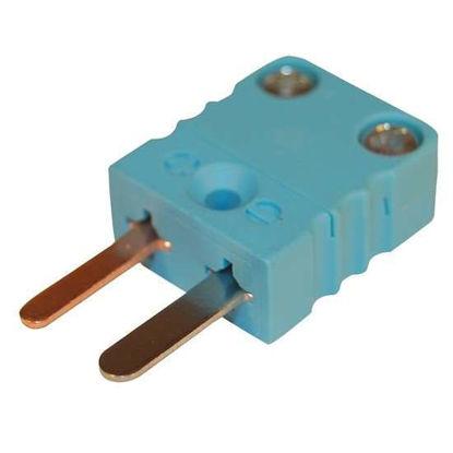 Digi-Sense Miniature Type-T Thermocouple Male Connector, 2 Pin, 5Pk