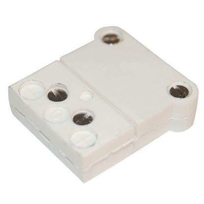 Digi-Sense RTD Connector, White 3-Blade ANSI, Female, 5/Pk
