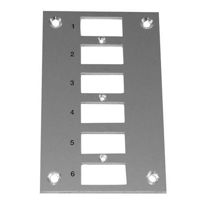 Digi-Sense Thermocouple Mounting Panel, Vertical, Mini Connectors; 6 Circuits