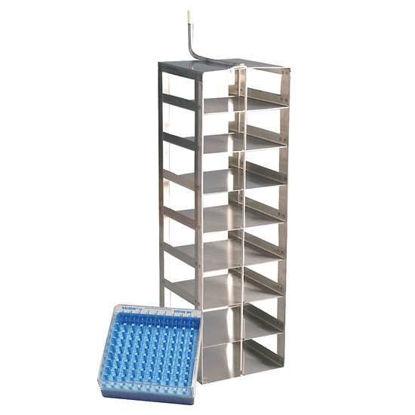 Worthington R05K-9C50 Vertical Rack, 8 shelf, Stainless Steel for 100-cell box