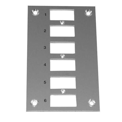 Digi-Sense Thermocouple Mounting Panel, Vertical, Standard Connectors; 6 Circuits