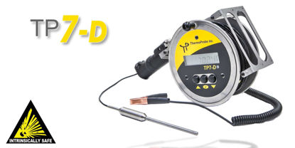 TP7-D Thermometer, 110ft (34m) cable, Standard Weight Probe, No Brass Markers, ATEX/IECEx Certification (Ex ia IIB T4 Ga), Ambient temperature range -20°C to +40°C