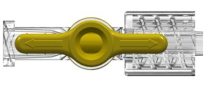 Stopcock, 1-way, Female Luer to Male Luer w/ Luer Lock Ring, High Pressure