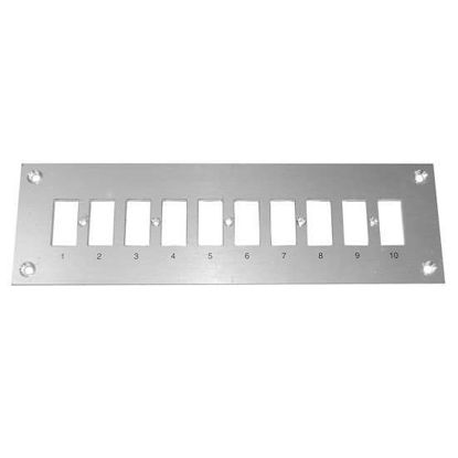 Digi-Sense Thermocouple Mounting Panel, Horizontal, Standard Connectors; 10 Circuits