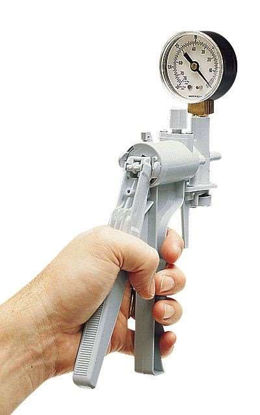 Hand-operated vacuum pump, 16 mL/stroke, PVC body