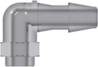 Build-a-Part Elbow 200 Series Barb 1/8in (3.2 mm) ID Tubing Polysulfone