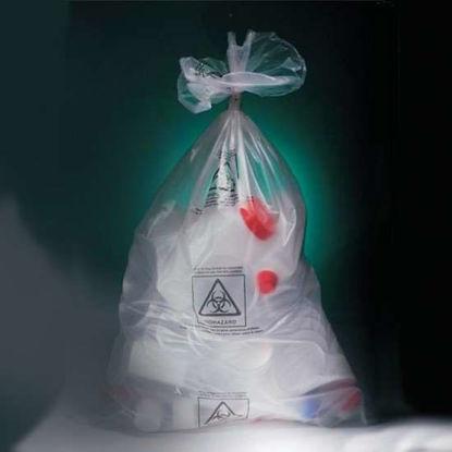Corning Gosselin Autoclavable Bags, 33L, polypropylene, with biohazard symbol; 335/cs