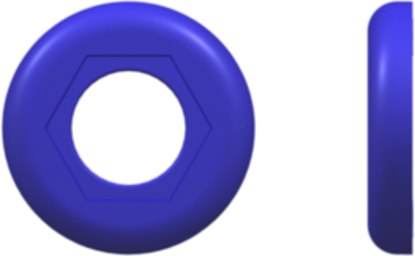 Color Coded Ring (For use with FTLLB or FTLB ) Blue Nylon