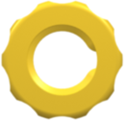 1/4-28 UNF Panel Mount Lock Nut (For use with FTLLB or FTLB panel mount fittings) Yellow Nylon