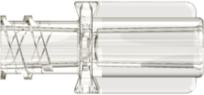 Neuraxial Female Connector with 3.1mm Tubing Bond-in Pocket Clear Acrylic