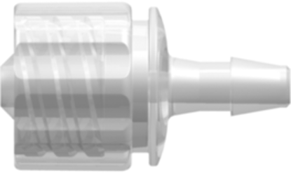 """Enteral Male Connector with Barb for 1/8""""; (3.2mm) ID Tubing animal-free Polypropylene"""