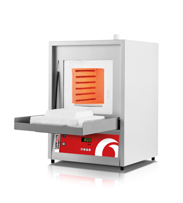 Economy laboratory furnaces ELF-maximum operating temperature of 1100°C-chamber capacity of 6, 14 and 23 litres-powerful free radiating coiled wire elements on both sides of the chamber ensure good temperature uniformity-hard ceramic hearth