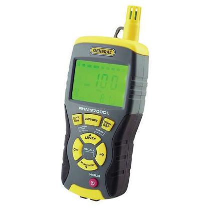 General Tools RHMG700DL 14-in-1 Pin/Pinless Digital Moisture Meter with ThermohygrometerMeter and Data Logging