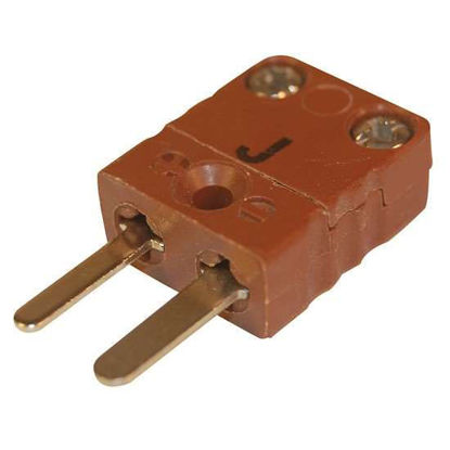 Digi-Sense Miniature Type-J Thermocouple Male Connector, 2 Pin