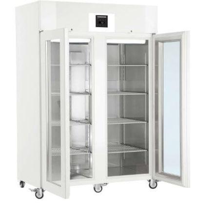 LKPv 1423 MediLine Laboratory Refrigerator with Profi Controller, Volume 1427 L, Dynamic Cooling, Dimension 1430 x 830 x 2150 mm, White Steel Cabinet Finish, Glass doors.
