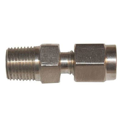 "Digi-Sense Compression Fitting; Probe Diameter 1/4""; 316 Stainless Steel 1/4""NPT (M)"