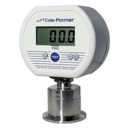 Cole-Parmer Sanitary Digital Pressure Gauge, 0 to 60 psig, battery powered