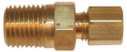 "Digi-Sense Compression Fitting; Probe Diameter 1/4""; Brass; 1/8""NPT (M)"